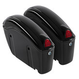 26L Motorcycle Hard Trunk Saddlebags Saddle Bags Side Box w/ bracket light For Cruiser