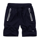 Men's Slim Fit Elastic Drawstring Sports Shorts