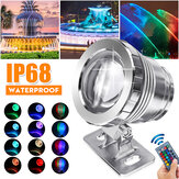 20W RGB LED Spot Lights Underwater Piscina Pond Garden Lamp Waterproof + remoto
