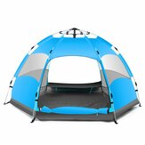 IPRee® 5-7 Persons Automatic Waterproof Large Camping Hiking Tent Outdoor Base Camp Blue/Orange