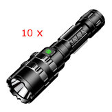 10pcs XANES 1102 L2 5Modes 1600 Lumens USB Rechargeable Camping Hunting LED Flashlight 18650