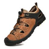 Erkekler Hakiki Deri Nefes Alabilir Kaymaz Ayak Korumalı Soft Bussiness Günlük Outdoor Ayakkabı