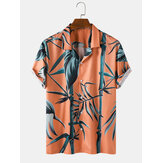 Mens Bamboo Pint Tropical Short Sleeve Shirts