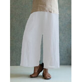 Celmia M-4XL Women Solid Cotton Panten Pant