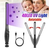 USB 40LED Luz ultravioleta portátil para esterilizador portátil UV Lâmpada de desinfecção
