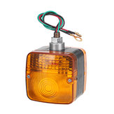 24V Amber Dual Side LED Waterproof Tail Light Forklift Trailer Truck Yacht Car Front Turn Signal Lamp