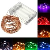 10M 100 LED Drut miedziany Fairy String Light Battery Zasilany Wodoodporny Christmas Party Decor