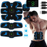 3 uds Smart Aptitud Abs Core Muscle Training Brazo Músculo Forma del cuerpo USB Recargable Sports Workout Home Gym