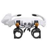 LED Magnifying Head Mount Magnifier Interchangeable Loupe with 7 Group Replaceable Lenses Loupe