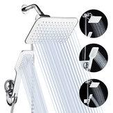 5個/セット降雨シャワーヘッドコンボ高圧デュアルシャワーヘッドハンドヘルドバスシャワーセット10インチ