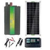 220V Solar Güç Sistemi 30W Solar Panel 1000W İnvertör 100A Denetleyici Kit Solar Panel Batarya Şarj Cihazı