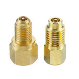 2pcs Recovery Tank Vacuum Pump Brass Adapter 1/4 to 1/2 Inch R134A to R12 for Air Conditioning