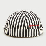 Stripe Beret Street Trends Melonenkappe Vintage Innocent Metal Standard Sailor Brimless Hats