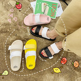 Net Red Slippers Female Season Flat Bottom Wear Fashion New Wild Non-slip Beach Sandals Ins Tide