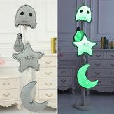Bulbe créatif de la lumière lumineuse lune étoile fantôme jeter peluche cadeaux oreiller Noctilucence coussin