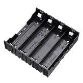 10 unids 4 ranuras 18650 Batería soporte plástico Caso almacenamiento Caja para 4 * 3.7 V 18650 litio Batería con 8 pines