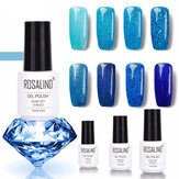 8 kolorów Blue Series Shimmer Glitter Nail Gel Soak-off UV Gel