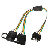 Trailer Splitter Harness Adapter 2-Way 4Pin Y-Split para porta traseira Tailgate Light Bars