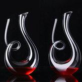 الحلزون الكحول صب أداة الزجاج الشفاف الكريستال المصفق السائل شكل مجموعة برواري