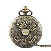 DEFFRUNRetroBronzeClassicDragãoPadrão Relógio de bolso