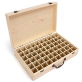 60 Grids Wooden Bottles Box Container Organizer Storage for Essential Oil Aromatherapy