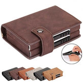 RFID Fashion Leather Card Holder Cartera Hombres Upgrade Double Caja Money Bolsa