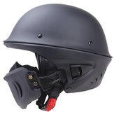 Zombies Racing DOT Rogue Demi Casque Moto Rétro Locomotive Masque Amovible Noir Mat