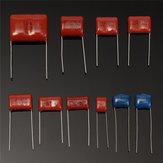 100Pcs 10 Values 1000V 0.001uf~0.12uf CBB Metal Film Capacitors Assortment Kit