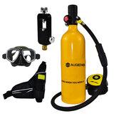 1L Scuba Diving Tank Set Mini Scuba Tank Underwater Diving Set with Respirator Adapters Diving Goggles Storage Bag