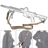 Military Nylon Regolabile Tactical Double Point Strap Gun Sling corda Cordino per CS Gun Accessories