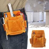 Cowhide Tool Waist Bag Welding Woodworking Hardware Screwdriver Case Belt Pouch