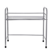 Microwave Oven Rack with Hook Stainless Steel Single-layer Kitchen Storage Holder