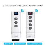 Moeshouse 9 /1 Channel RF433 Remote Control for WiFi Curtain Switch RF Roller Blinds Module Battery Powered Curtain Accessories Emitter