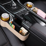Car Seat Gap Storage Box Multifunction USB Charging Leather Car Water Cup Phone Holder