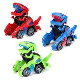 Creative Dinosaur Deformation Toy Car Puzzle Dinosaur Electric Toy Car Light and Music Electric Deformation Dinosaur Toys