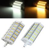 R7s regulável 118 milímetros LED lâmpada de 8W 36 SMD 5050 branco / branco morno milho holofote AC85-265V lâmpada