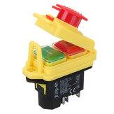 230V IP55 KJD17 GF 4 Pin Start Stop On Off Volt Release Switch Fit for Workshop Machines