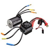 Racerstar 3650 Sensorless Brushless Waterproof Motor 60A ESC para 1/10 RC Off-Road Truck Truggy Cars