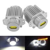 80W LEDエンジェルアイズライト電球エラーフリー6000K白BMW E90 E91 3シリーズ325i 328i 335i 2004-2008