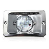 12V LED Waterproof Anchor Stern Light Embedded Marine Boat White Stainless Steel