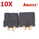 10 زوج Amass XT60U 3.5 ملليمتر Banana Plug موصل أسود الذكور والإناث