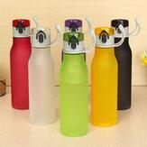 550 ملليلتر متعدد الألوان متجمد البلاستيك كأس المياه المحمولة الأزياء نمط الرياضة الكؤوس