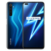 Realme 6 Pro Version UE 6,6 pouces FHD + 90Hz Écran ultra lisse NFC Android 10 4300mAh 64MP AI Quad Camera 8GB 128GB Snapdragon 720G Smartphone 4G