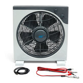 DC12V 11W DC Fan Portable 3 Gears Solar Fan Silent Cooling Fan With Crocodile Clip