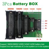 3Pcs ABS 4-wire and 2-wire Terminal 18650 26650 14505 14340 1425 Battery Case Holder Test Storage Box for DL24P