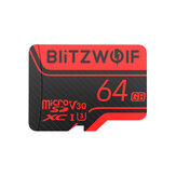 BlitzWolf®BW-TF2 Micro SD Card with Adapter Class 10 U3 Memory Card TF Card 32G 64G 128G 256GB for Camera UAV Recorder
