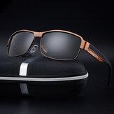Homens óculos de sol polarizados anti-UV verão esportes ao ar livre Óculos Sun Goggle Driving Eyewear