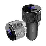ROCK Sitor 3.4A LED Moniteur En Temps Réel Double USB Rapide Chargeur De Voiture Pour Téléphone Mobile Tablet Caméra