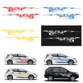 Adesivos de carro Body Graphics Decalques de Vinil Azul / Vermelho / Amarelo / Branco 102x14Inch Par