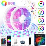 15 / 20M 12V Music Sync WiFi App Remote RGB LED Strip Lights For Rooms Bar DC Kits Waterproof